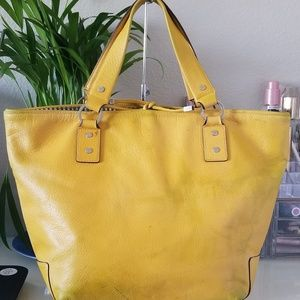 Kate Spade Buttery Yellow Leather Tote